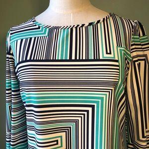 Jude Connally Dresses - Jude Connolly Geometric Print Shift Dress